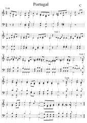 Portugal Nationalhymne vierstimmiger Satz