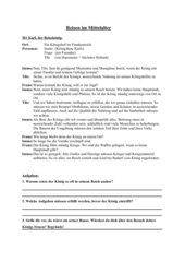 Dialog: Reisen im Mittelalter