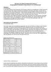'Winterwald' - Diktattext mit Übungen