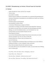 Thematsierung von Streben, Tod und Trauer im Unterricht