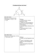 4 Konstruktionen zum Dreieck