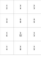 Bruch -  Memo-Spiel / Zuordnungsspiel
