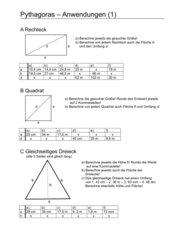 Pythagoras - Anwendungen (1)