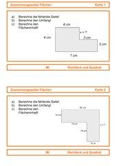 Zusammengesetzte Flächen: Rechteck und Quadrat