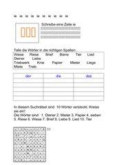 ie Arbeitsblatt (Buchstabeneinführung)
