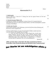 Klassenarbeit Charakterisierung Wilhelm Tell/Erwartungshorizont