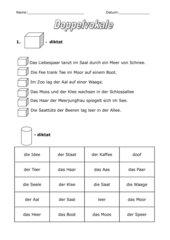 Doppelvokale: Würfel- und Dosendiktat