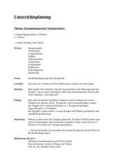 Unterrichtsplanung  Thema: Zusammengesetzte Namenswörter