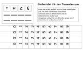 Arbeitsblätter Zahlenstrahl  Zahlengerade bis max 1000