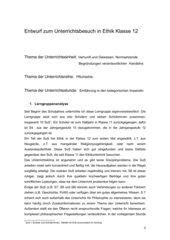 Einführung in den kategorischen Imperativ Klasse 12
