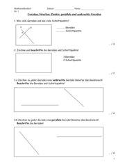 Geometrie - Geraden, Senkrechte, Parallele, Strecken