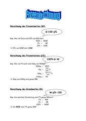 Formelsammlung zur Prozentrechnung