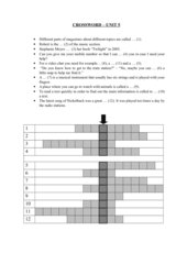 Crossword English G 21 A3 Unit 5