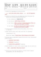 Miles Davis  Test mit Lösung