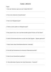 Fragen zur WM 2010