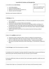 Leseschritte zur Bearbeitung von Sachtexten und Zeitungsartikeln