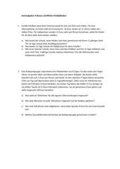 Komplexe Sachaufgaben 4. Klasse