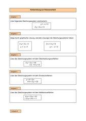 Vorübung KA - Gleichungssysteme