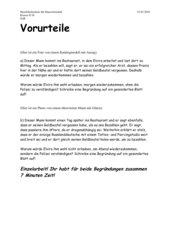 Text über Vorurteile