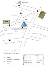 Stadtplan zur PA: Wegbeschreibung französisch (Découvertes 1, L.5)