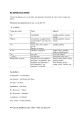 Übung zu Adjektiven (groß, klein) im Zusammenhang mit dem Wortfeld der Familie
