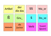 Memo-Spiel / Zuordnungsspiel: Rechtschreibung