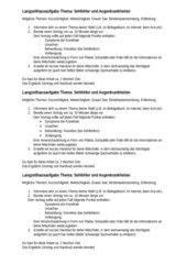 Langzeithausaufgabe Sehfehler / Augenkrankheiten
