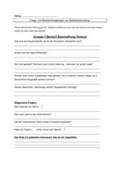 Fragebogen Betriebserkundung