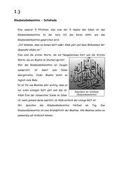 Die 5 Säulen des Islams (Gruppenarbeit)