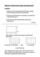mathematik arbeitsmaterialien fl chenberechnung einf hrung. Black Bedroom Furniture Sets. Home Design Ideas