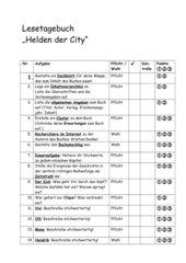 Lesetagebuch zu Helden der City von Kristina Dunker