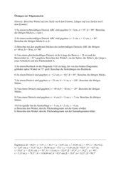 Übungsblatt Trigonometrie