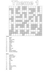 Crossword theme 1