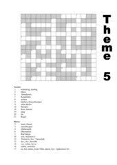 Crossword theme 5