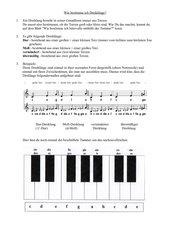 Wie bestimme ich Dreiklänge mithilfe der Tastatur?
