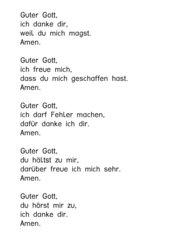 kurze Gebete