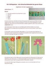 Die Frühlingswiese - Applizieren mit dem Langettenstich