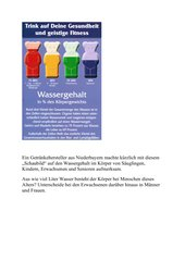 Prozentwert - Ermittlung des Wasseranteils im menschlichen Körpers anhand eines Schaubildes