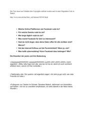 Text mit Diskussionsfragen zum Thema