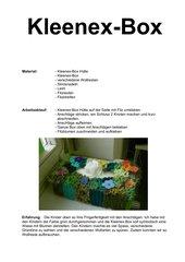 Kleenex-Box mit Anschlägen verziert