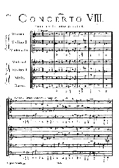 Arcangelo Corelli - 2. Satz aus Concerto grosso g-Moll op.6,8