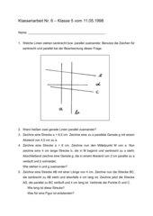 Geometrie I Test 5 Klasse