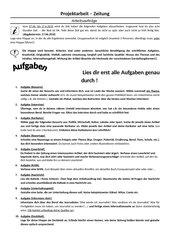 Projektarbeit Zeitung