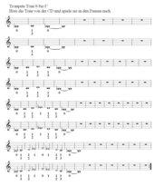 Kleine Trompetenschule 2 (C-Notation, klingend)