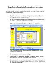 Hyperlinks in PowerPoint
