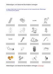 Silbenbögen und bekannte Buchstaben (L,O und A)