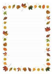 Schmuckrahmen zum Thema Herbst/Laub