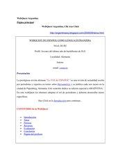 WebQuest  Argentina