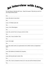 An interview with Leroy Gunn (Unit 1 - Highlight 3)