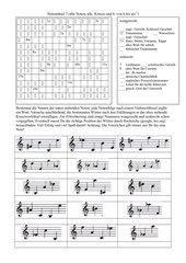 Notenkreuzworträtsel im Violinschlüssel 2